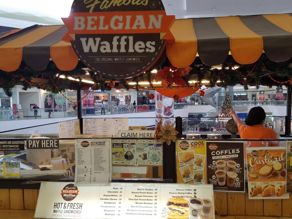 Famous Belgian Waffles店舗の様子