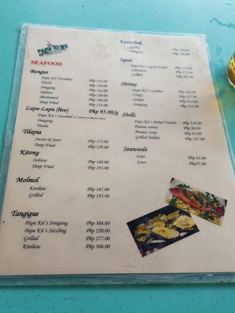 パパキッズのレストランメニュー01