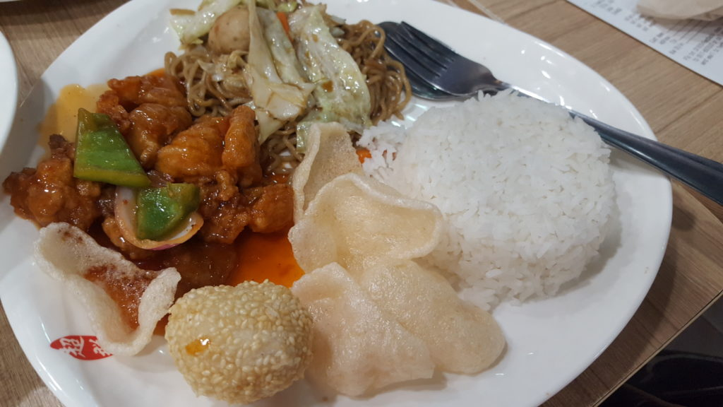 Sweet and Sour Pork Lauriat with Drink