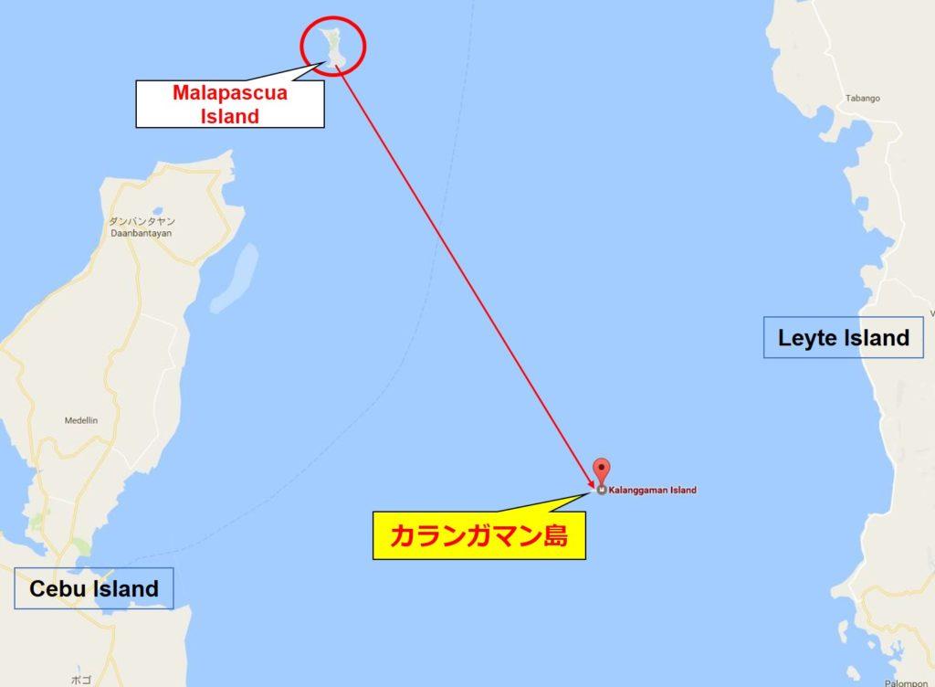 カランガマン島地図