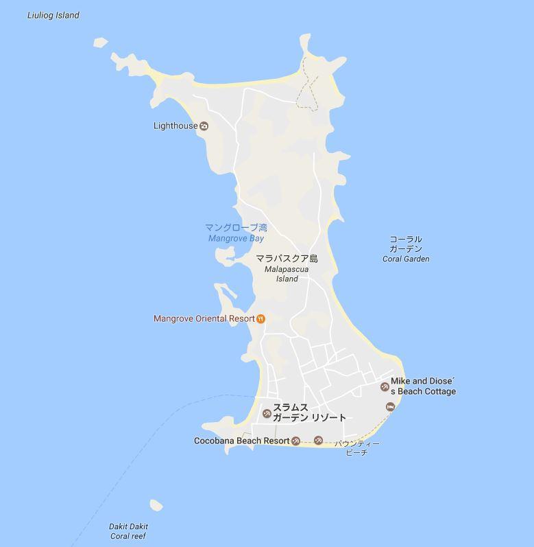 マラパスクア島内案内地図