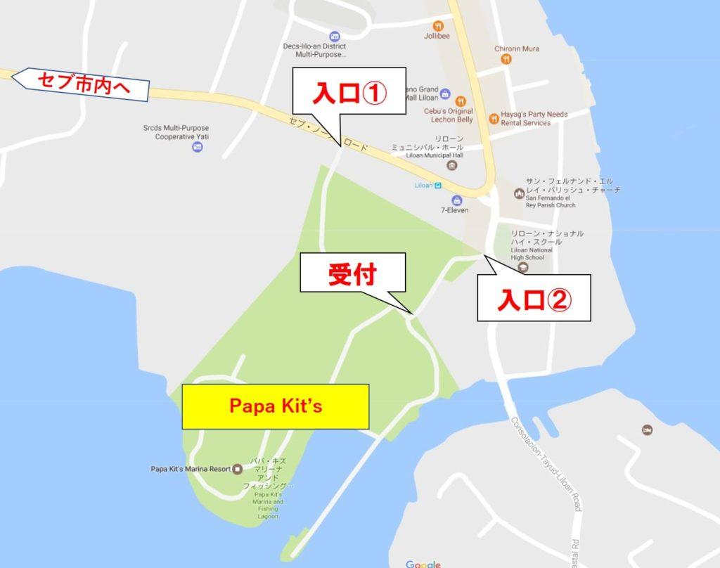 パパキッズ詳細地図