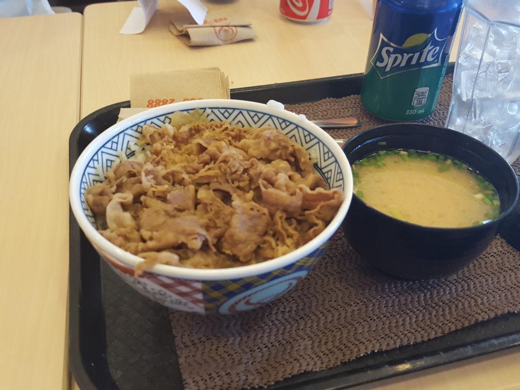 SMモール・オブ・アジアの吉野家の牛丼