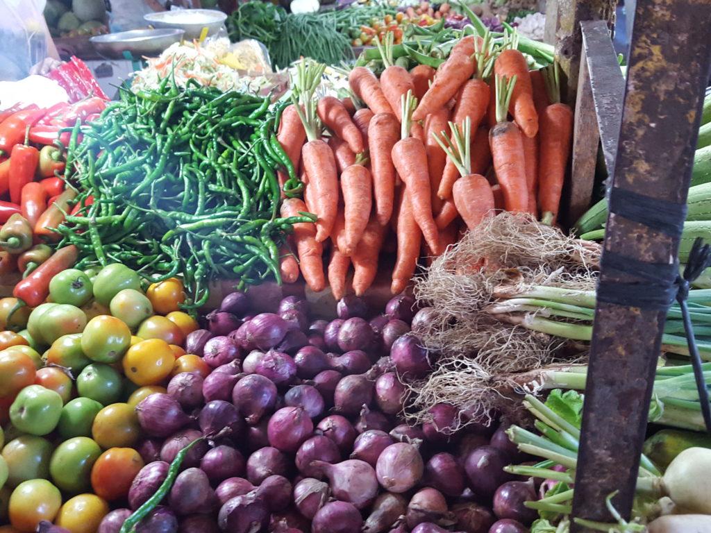 メルカドの新鮮な野菜
