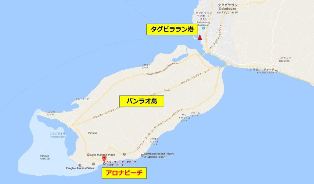 パンラオ島地図