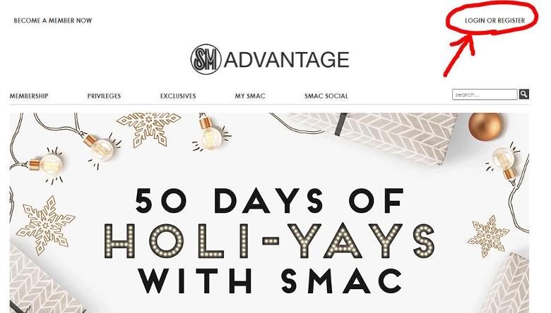 SM Advantageのホームページ
