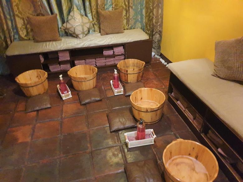 ミンタイスパ(Ming Thai Spa)足洗い場